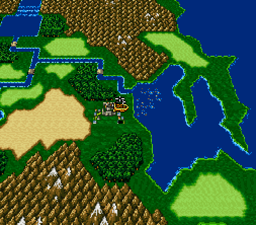 Final Fantasy Maps Through the Ages: The SNES Era - Overworld Map