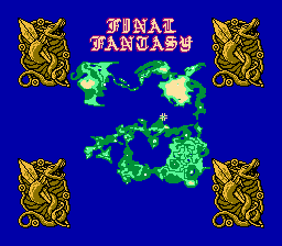 Final Fantasy Maps Through the Ages: The NES Era - Overworld Map